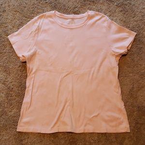 Caslon pink plain top shirt 1x